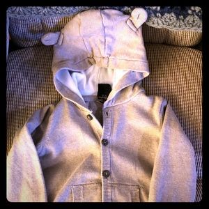 12-24m Sweater Hoodie w/ears - Organic cotton